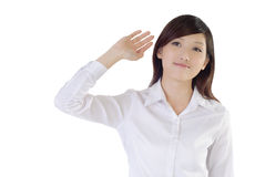 Free Asian Businesswoman Raise Hand Royalty Free Stock Images - 14381409