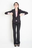 Asian businesswoman ready to jump Royalty Free Stock Photos