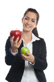 Asian Businesswoman with red Stock Image