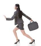 Asian businesswoman run Stock Photography