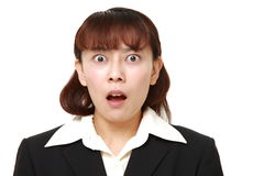 Asian businesswoman shocked Royalty Free Stock Photography