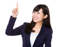 Asian Businesswoman showing finger up Royalty Free Stock Photos
