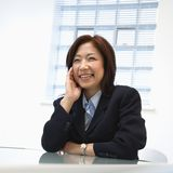 Asian businesswoman smiling Royalty Free Stock Images