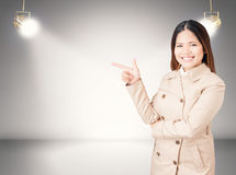 Asian businesswoman on stage Stock Photography