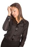 Asian businesswoman suffers a headache Stock Photo