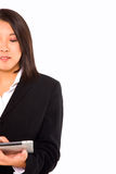 Asian businesswoman with tablet Stock Images