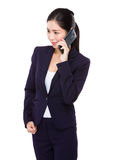 Asian businesswoman talk to cellphone Royalty Free Stock Images