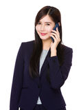Asian businesswoman talk to cellphone Stock Image