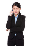 Asian businesswoman talk to cellphone Stock Images