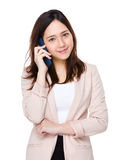 Asian businesswoman talk to cellphone Stock Photos
