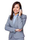 Asian businesswoman talk to cellphone Royalty Free Stock Photo
