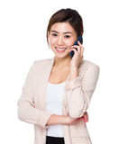 Asian businesswoman talk to mobile phone Stock Photography