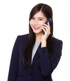 Asian businesswoman talk to mobile phone Royalty Free Stock Images