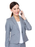 Asian businesswoman talk to mobile phone Stock Photos