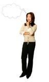 Asian Businesswoman Thinking Royalty Free Stock Image