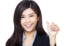 Asian businesswoman thumb up Stock Images