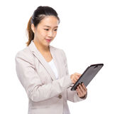 Asian businesswoman touch on digital tablet Stock Images