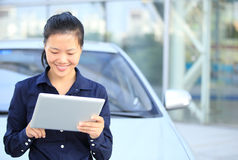 Asian businesswoman use digital tablet Stock Photography
