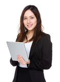 Asian businesswoman use of digital tablet Stock Images