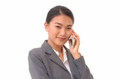 Asian businesswoman use the smartphone Royalty Free Stock Photography