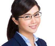 Asian businesswoman wearing glasses Stock Photo