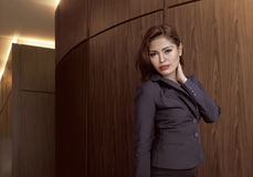 Asian businesswoman wearing gray suit Royalty Free Stock Image