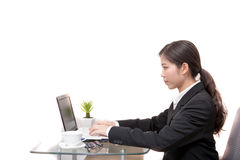 Asian businesswoman working Stock Photo