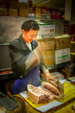 Asian butcher Stock Photography