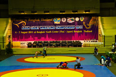 Asian cadet wrestling championship 2011, 4-7 - BANGKOK, THAILAND, 4-7 August 2011 Royalty Free Stock Image