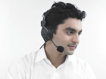 Asian call centre executive Royalty Free Stock Images