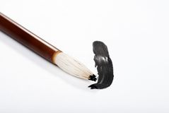 Asian calligraphy brush focus on tip Stock Photos