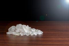 Asian Camphor with light on the table Royalty Free Stock Photo