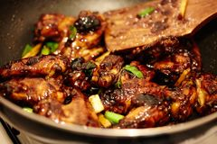 Asian caramel chicken wings Royalty Free Stock Image
