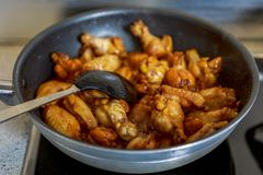 Asian caramelized chicken wings Stock Photography