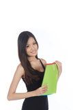 Asian Career Woman. From The Office Isolated Royalty Free Stock Photography