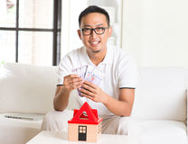 Asian casual male Royalty Free Stock Images