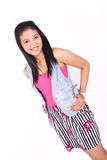 Asian casual model in white Royalty Free Stock Images