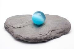 Asian Cat Eye Blue Quartz Sphere Royalty Free Stock Photos