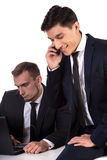 Asian and caucasian businessmen Stock Photo