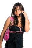 Asian Cell Phone Woman Royalty Free Stock Photography