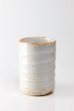 Asian ceramics cups on white with reflection Royalty Free Stock Photography