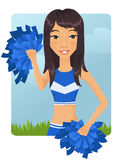 Asian cheerleader Royalty Free Stock Image