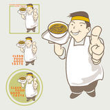 Asian Chef acting present clean food good taste Royalty Free Stock Photography