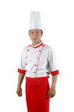 Asian chef portrait. Isolated on white background Stock Images