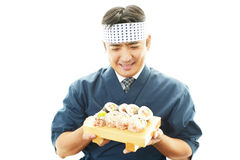 Asian chef. Portrait of an Asian chef in uniform Stock Photography
