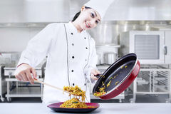 Chef in action Stock Photography
