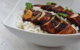 Asian Chicken. Pan seared chicken breast with Asian flavor Stock Photo