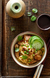 Asian chicken noodle salad Royalty Free Stock Images