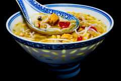 Asian chicken noodle soup Stock Photo