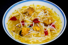 Asian chicken noodle soup Royalty Free Stock Image
